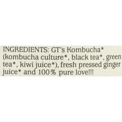 GTs Kombucha, Organic & Raw, Gingerade