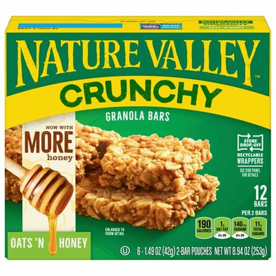 Nature Valley Granola Bars, Oats 'n Honey, Crunchy