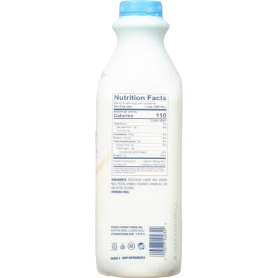 Lifeway Kefir Plain Unsweetened Cultured Lowfat Milk
