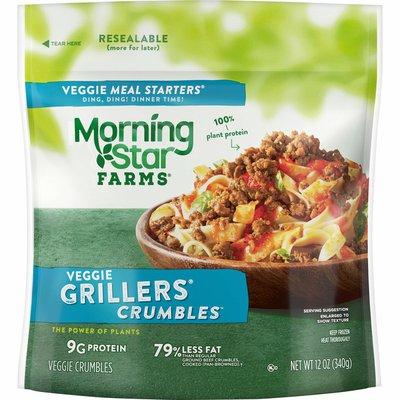 Morning Star Farms Veggie Meal Starters Crumbles, Grillers Original, Vegan