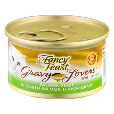 Purely Fancy Feast Gravy Wet Cat Food, Gravy Lovers Salmon Feast in Seared Salmon Flavor Gravy