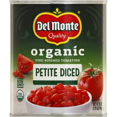 Del Monte Tomatoes, Organic, Petite Diced