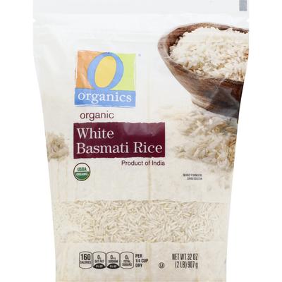 O Organics Basmati Rice, Organic, White