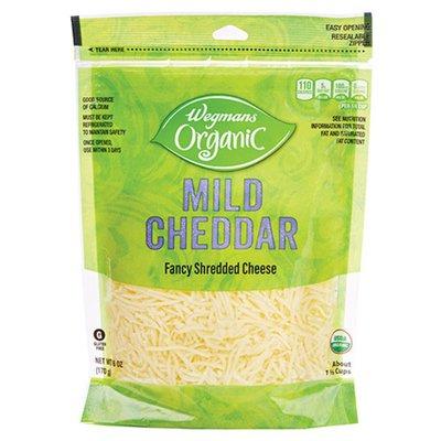 Wegmans Organic Shredded Mild Fancy Cheddar Cheese