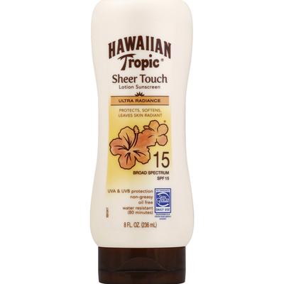 Hawaiian Tropic Sheer Touch Ultra Radiance Lotion Sunscreen Broad Spectrum