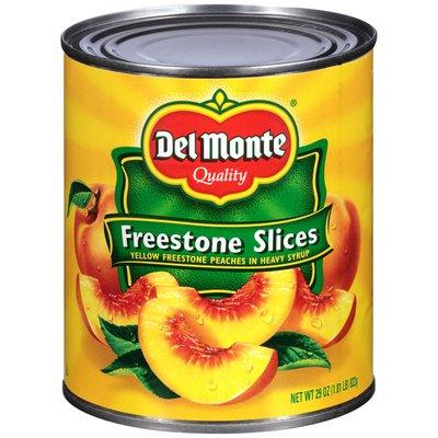 Del Monte Yellow Freestone Slices in Heavy Syrup Peaches