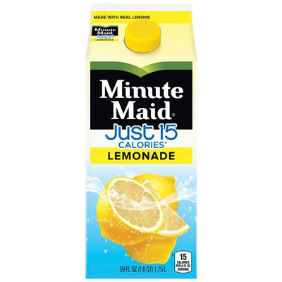 Minute Maid Just 15 Calories, Lemonade Carton
