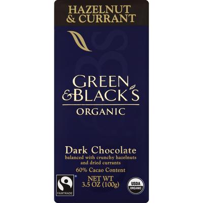 Green & Black's Chocolate Dark Chocolate, Hazelnut & Currant