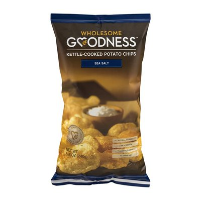Wholesome Goodness Kettle-Cooked Potato Chips Sea Salt