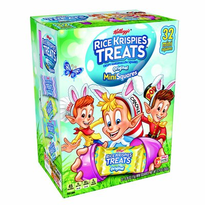 Kellogg's Rice Krispies Treats Mini Marshmallow Snack Bars, Easter Snacks, Kids Lunch, Original