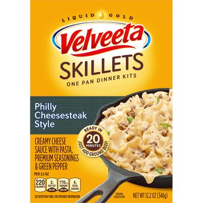 VELVEETA Philly Cheesesteak Style One Pan Dinner Kit with Pasta, Cheese Sauce, Peppers & Seasonings