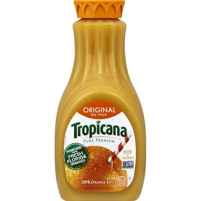 Tropicana 100% Juice, Original, No Pulp, Orange