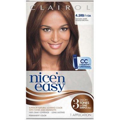 Clairol Nice 'n Easy 4.5RB 112A Natural Dark Reddish Brown 1Kit  Female Hair Color