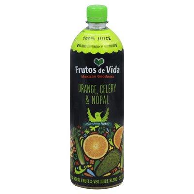 Frutos De Vida Juice, Orange, Celery & Nopal
