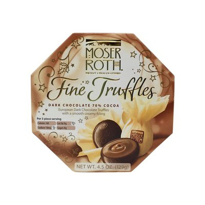 Moser Roth European Dark Chocolate Truffles With A Smooth Creamy Filling