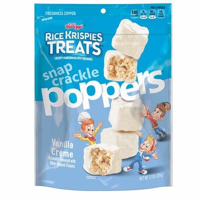 Kellogg's Rice Krispies Treats Poppers Crispy Marshmallow Squares, Vanilla Crème