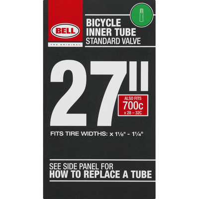 Bell Bicycle Inner Tube, Standard Valve, 27 inches