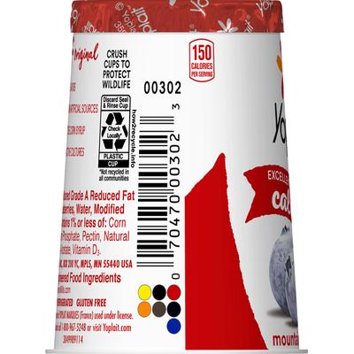 Yoplait Yogurt, Lowfat, Mountain Blueberry, Original