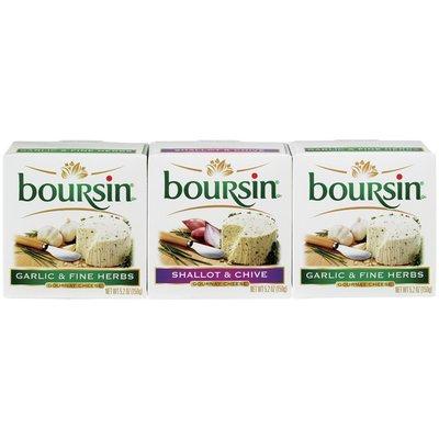 Boursin® Garlic & Fine Herbs Shallot & Chive Gournay Cheese