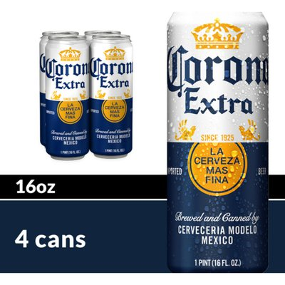 Corona Extra Mexican Lager Beer Cans