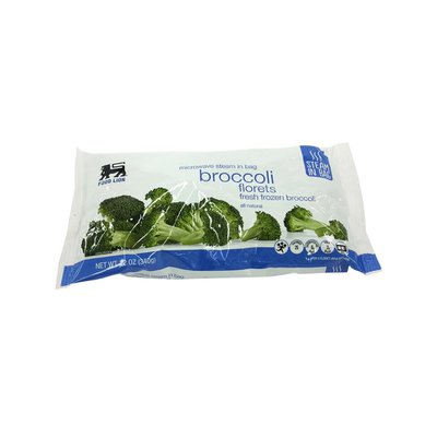 Food Lion Broccoli Florets, All Natural, Fresh Frozen,  Bag