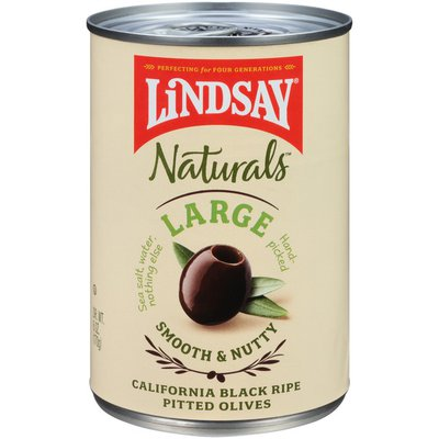 Lindsay Naturals Large California Black Ripe Pitted Olives