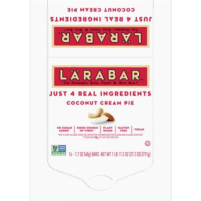 Larabar Fruit & Nut Bar, Coconut Cream Pie, Gluten Free, Vegan, 16 Count