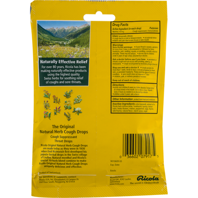 Ricola The Original Natural Herb Cough Drops
