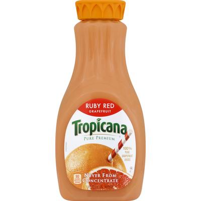 Tropicana 100% Juice, Ruby Red Grapefruit