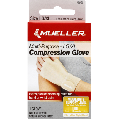 Mueller Compression Glove, Multi-Purpose, LG/XL