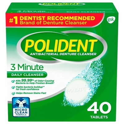 Polident 3 Minute Denture Daily Cleanser Tablets, 3 Minute Denture Daily Cleanser Tablets