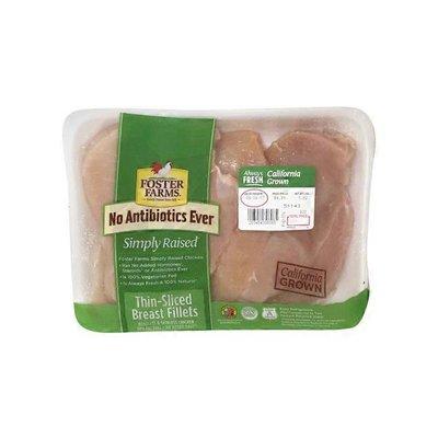 Foster Farms Fresh Antibiotic Free Thin Sliced Chicken Breast