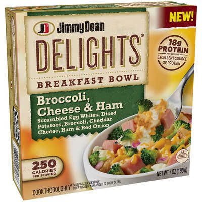 Jimmy Dean Breakfast Bowl, Broccoli, Cheese & Ham, Delights