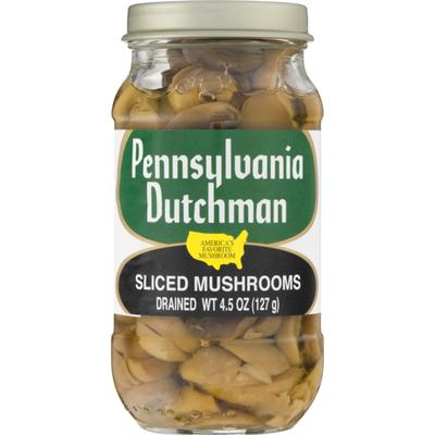 Pennsylvania Dutchman Mushrooms, Sliced