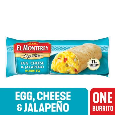 El Monterey Signature Egg, Cheese & Jalapeño Burrito
