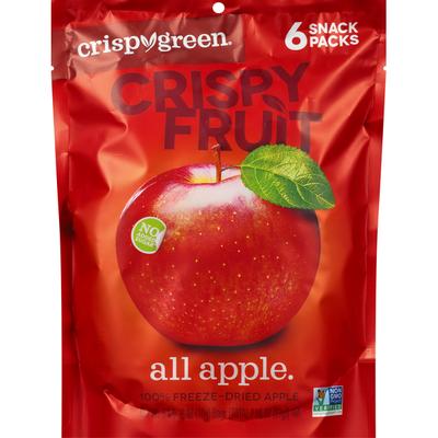 Crispy Green Crispy Fruit, All Apple, 6 Snack Packs