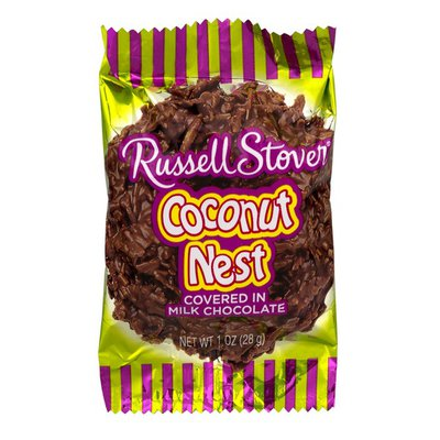 Russell Stover Coconut Nest, Covered in Milk Chocolate