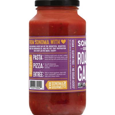 Sonoma Gourmet Pasta Sauce, Organic, Roasted Garlic