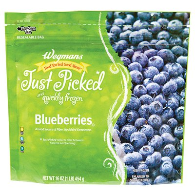 Wegmans Food You Feel Good About Just Picked And Quickly Frozen Blueberries