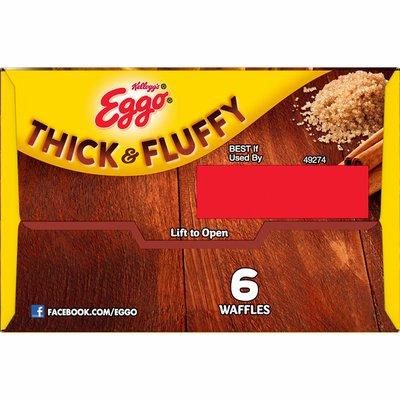 Eggo Thick and Fluffy Frozen Waffles, Frozen Breakfast, Belgian Style, Cinnamon Brown Sugar