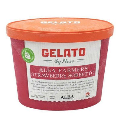 Gelateria Naia Strawberry Sorbetto