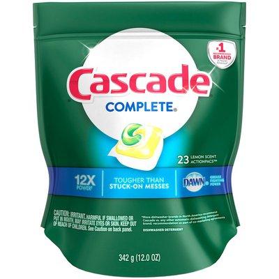 Cascade Complete Dawn 12X Dishwasher Detergent Lemon Scent