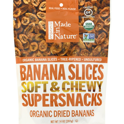 Made In Nature Banana Slices, Soft & Chewy
