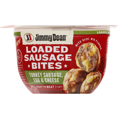 Jimmy Dean Loaded Sausage Bites, Turkey Sausage, Egg & Cheese