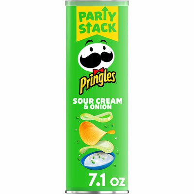Pringles Potato Crisps Chips, Lunch Snacks, Snacks On The Go, Sour Cream and Onion