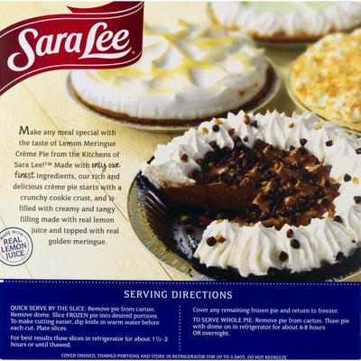Sara Lee Pie, Lemon Meringue Creme