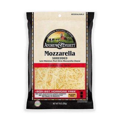 Andrew & Everett Cheese, Shredded, Mozzarella