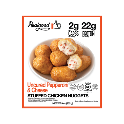 Real Good Foods Uncured Pepperoni & Cheese Stuffed Chicken Nuggets