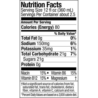 Powerade Grape, Ion4 Electrolyte Enhanced Fruit Flavored Sports Drink W/ Vitamins B3, B6, And B12, Replenish Sodium, Calcium, Potassium, Magnesium