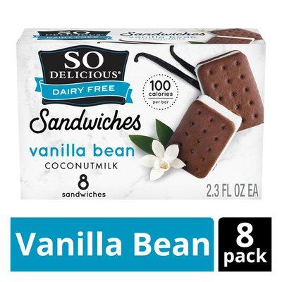 So Delicious Dairy Free Coconutmilk Vanilla Desset Sandwiches